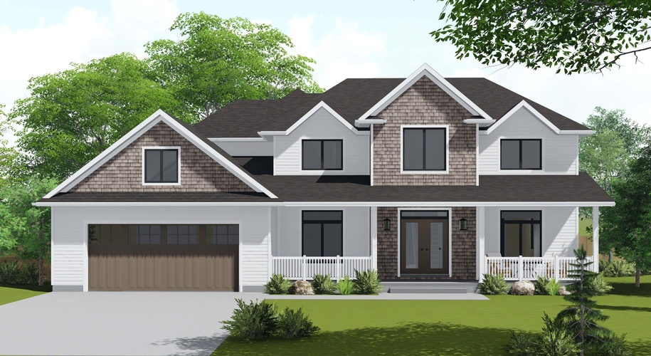 3D Exterior Rendering London of a Garden Bungalow by Robinson Design and Drafting - Architectural Designers Sarnia