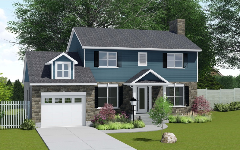 Home Exterior 3D Rendering St Thomas by Robinson Design and Drafting