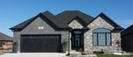 Garage Door - Home Design by Robinson Design and Drafting - Design Firm Point Edward