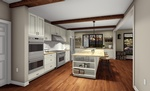 Furnished Kitchen - Interior 3D Rendering London ON by Robinson Design and Drafting