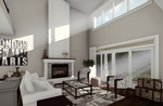 Lavish Living Room 3D Rendering London ON by Robinson Design and Drafting