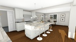 Furnished Kitchen - Interior 3D Rendering Point Edward by Robinson Design and Drafting