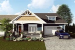 Home Design Plan with Driveway and Garage Door by Robinson Design and Drafting