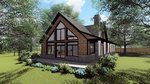 Architectural Design of a Garden Centered Bungalow with a sloping roof by Robinson Design and Drafting