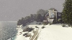 Sea Facing Bungalow Situated on a small hill covered in snow - Exterior 3D Rendering Point Edward