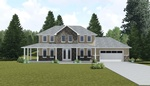 Exterior 3D Rendering St Thomas for Garden Bungalow by Robinson Design and Drafting