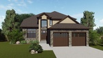 Garden Bungalow with Garage Door - Exterior 3D rendering London by Robinson Design and Drafting