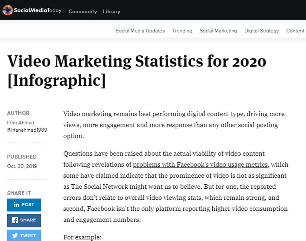 Video Marketing Statistics for 2020  Infographic    Social Media Today (1).png