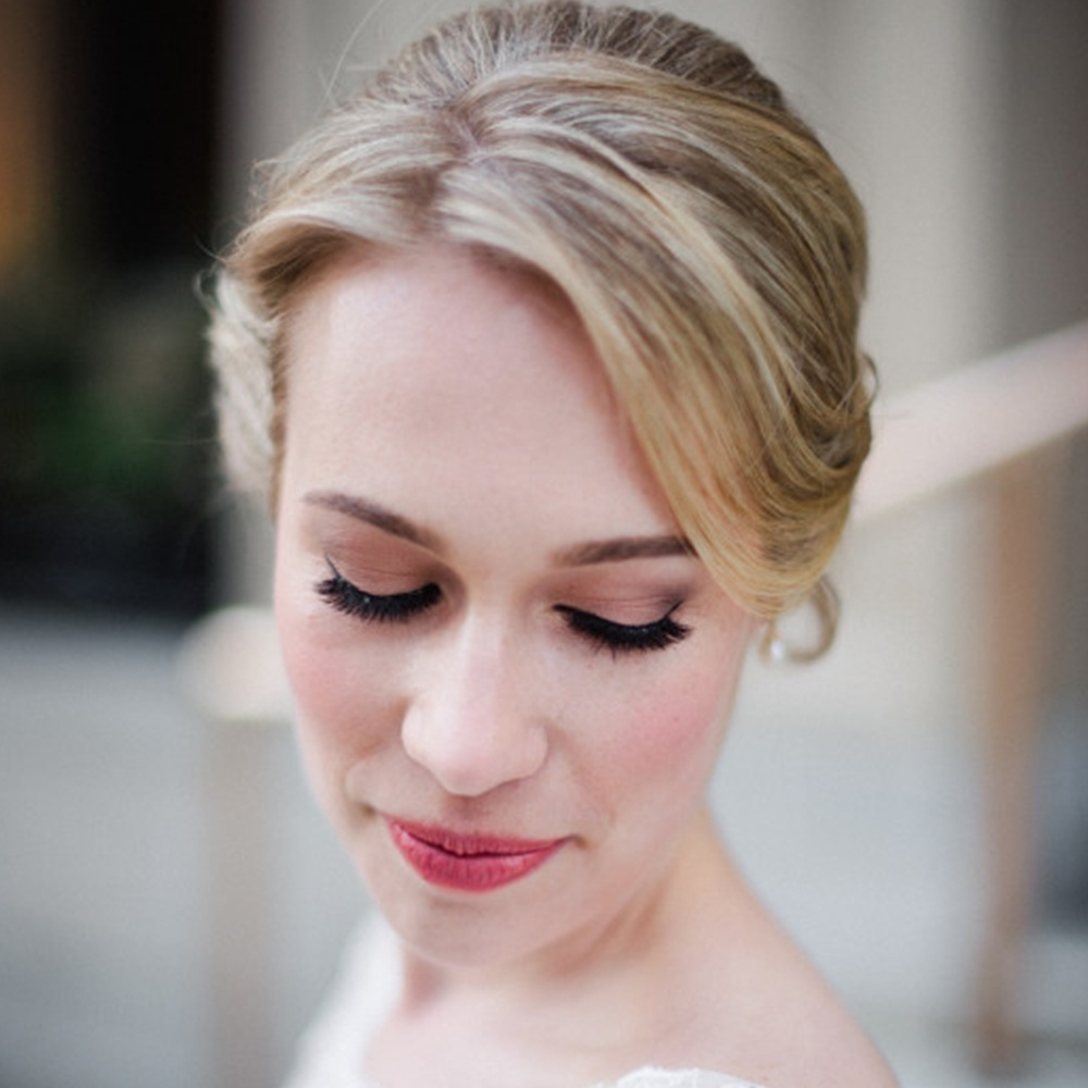 Wedding Hairstyle for Lindsay by Wedding Hair Stylist Toronto at Michael Fels Beauty