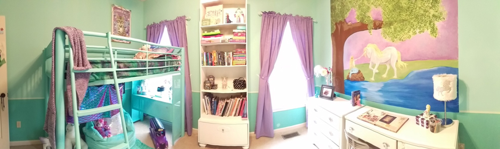 Kids Room with a Bunk Bed and a Bookshelf - Interior Decorator Alpharetta by Sage Key Interiors