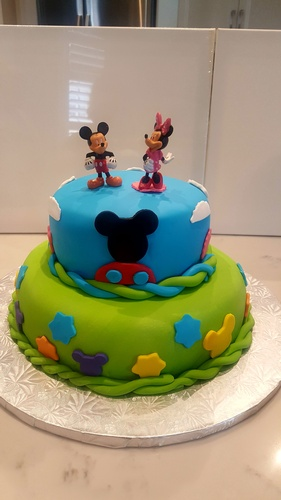 Mickey and Minnie Mouse Designer Cake Toronto at Anna Maria's Cakes And Puffs