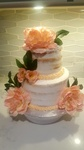 Floral Naked Cake Vaughan at Anna Maria's Cakes And Puffs