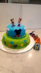 Custom Mickey and Minnie Mouse Birthday Cake Markham at Anna Maria's Cakes And Puffs