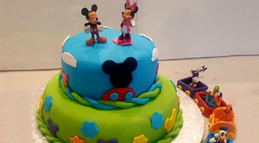 Mickey and Minnie Mouse Cake - Designer Cakes Markham at Anna Maria's Cakes And Puffs