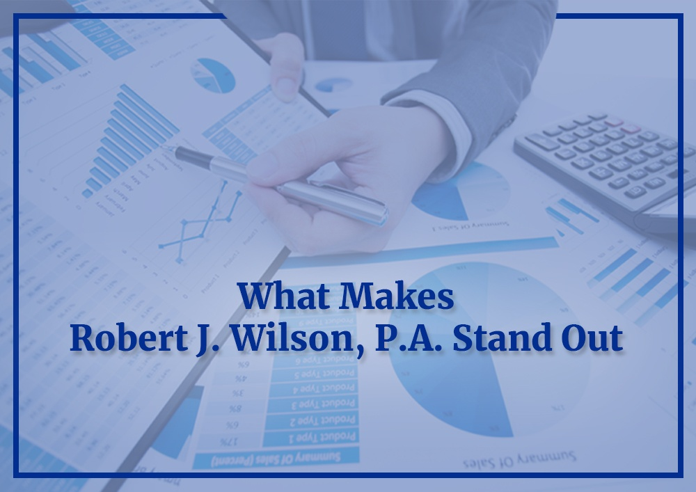 Blog by Robert J. Wilson, P.A. - certified public accountant
