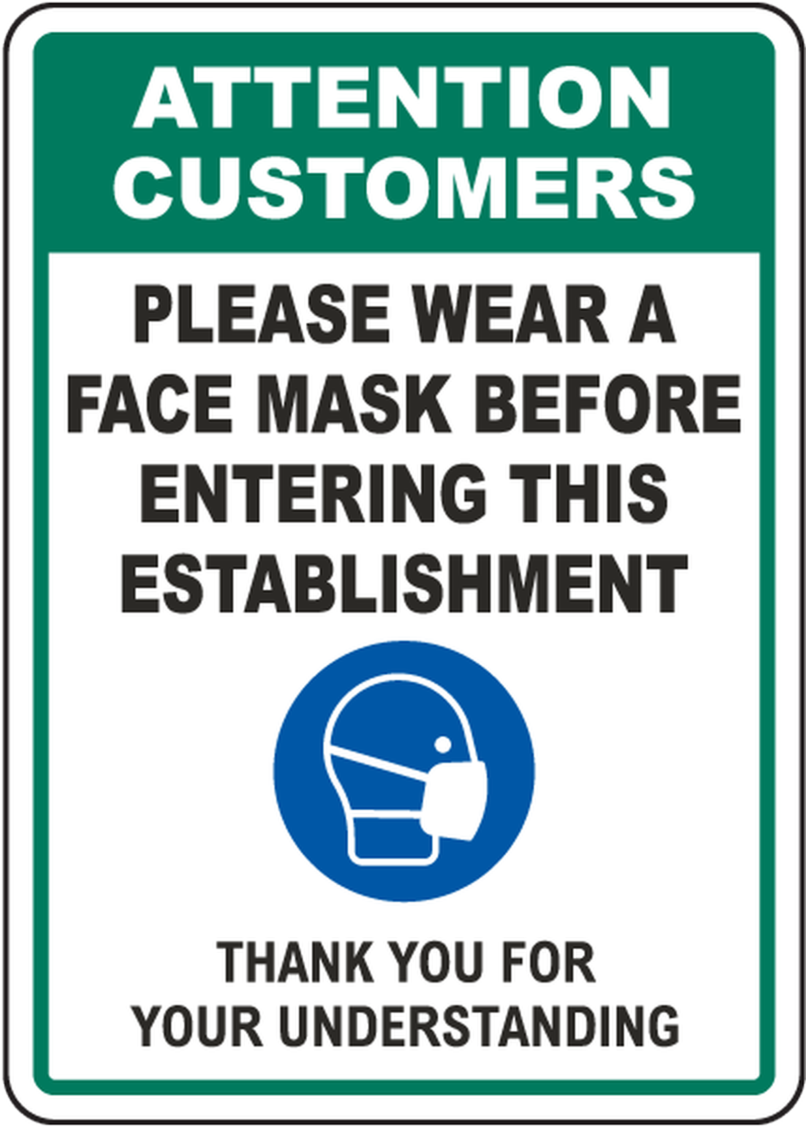 Please remember to wear a mask upon entering