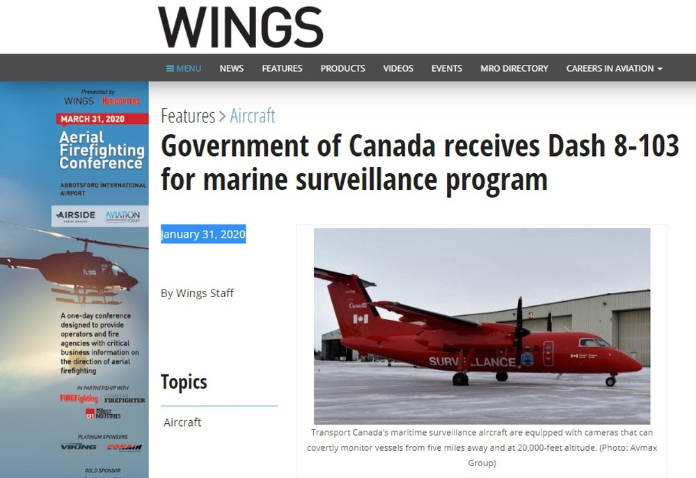 Government of Canada receives Dash 8-103 for marine surveillance program - www wingsmagazine com.jpg