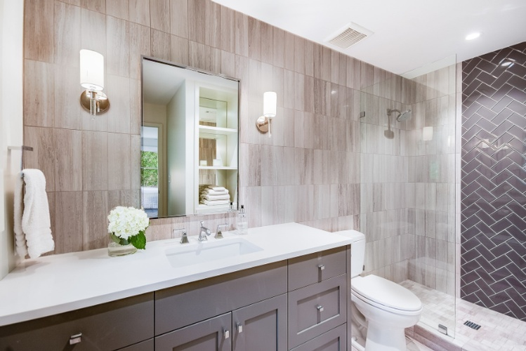 Modern Bathroom by PB Construction - Custom Home Builder in Austin