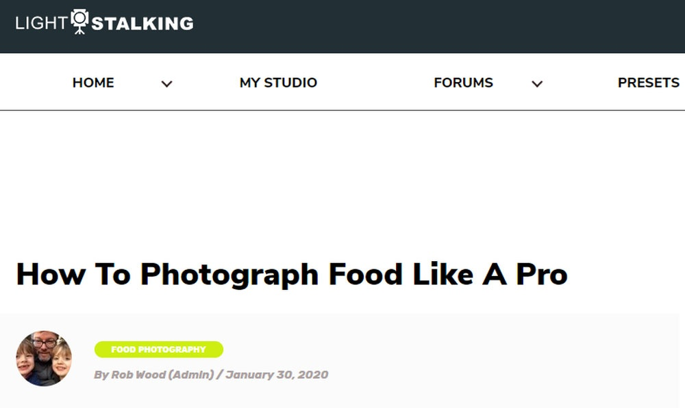 How to Photograph Food Like a Pro.