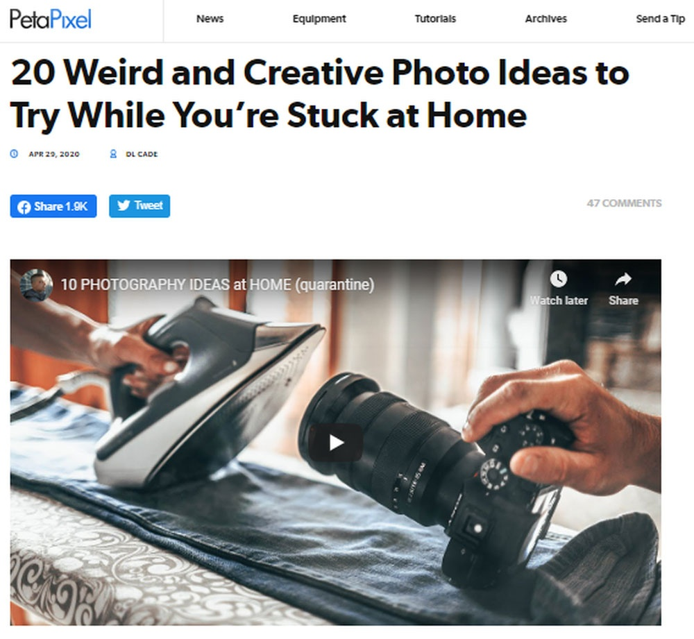 20 Weird and Creative Photo Ideas to Try While You are Stuck at Home.