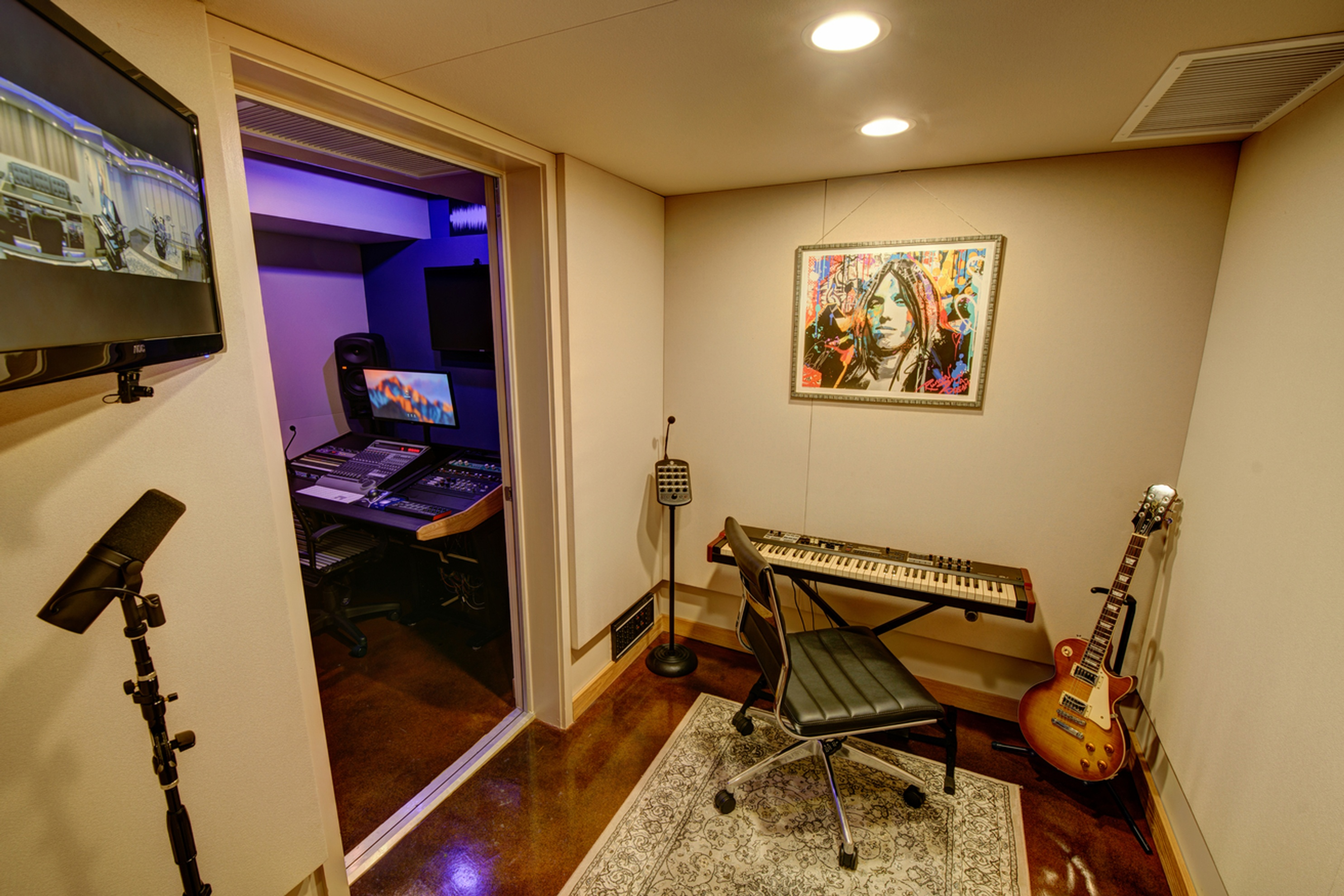 Studio B Iso Room at Innovation Station Music - Music Production Company Annandale