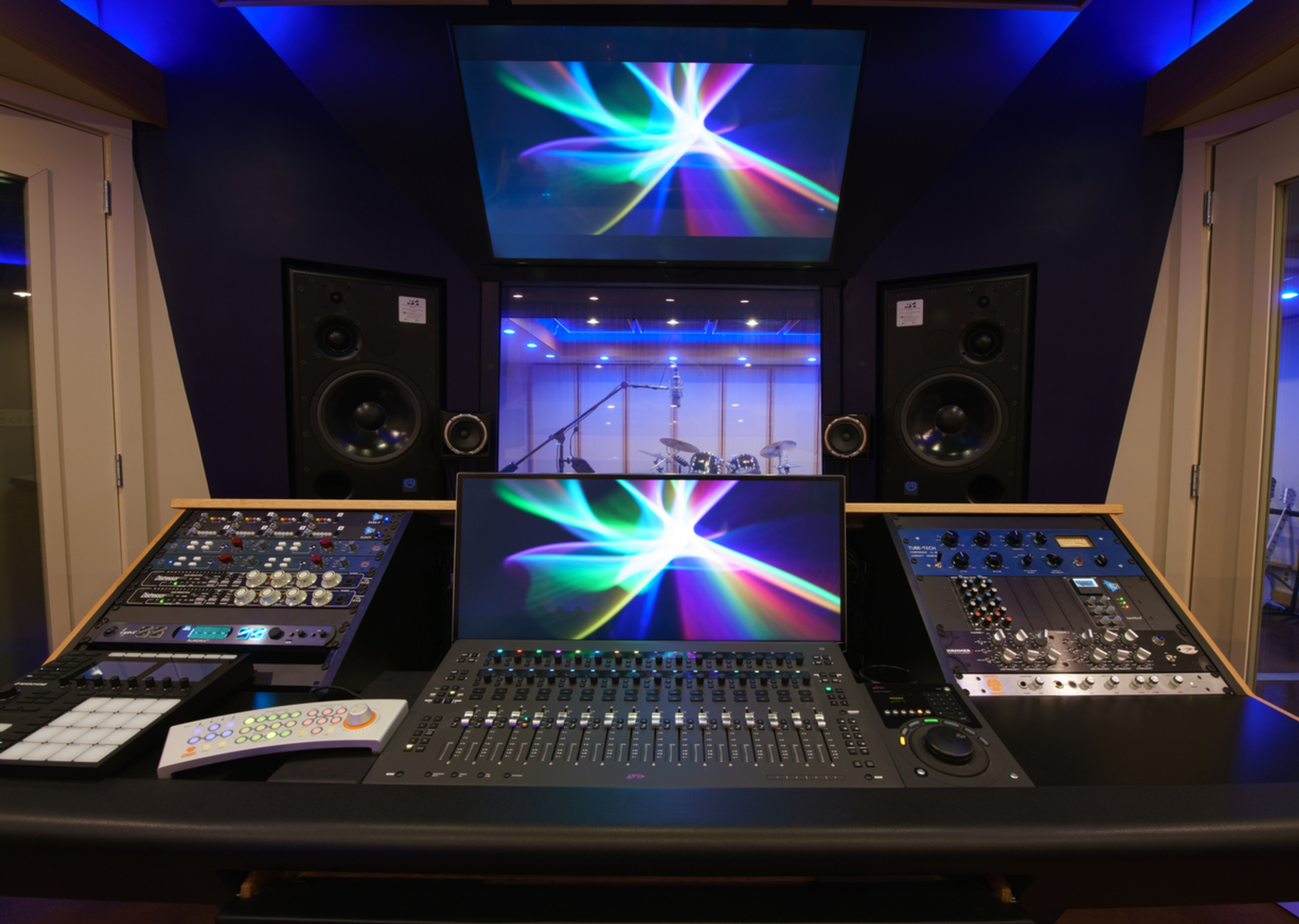 Control Room A Front View by Innovation Station Music - Music Production Company Annandale