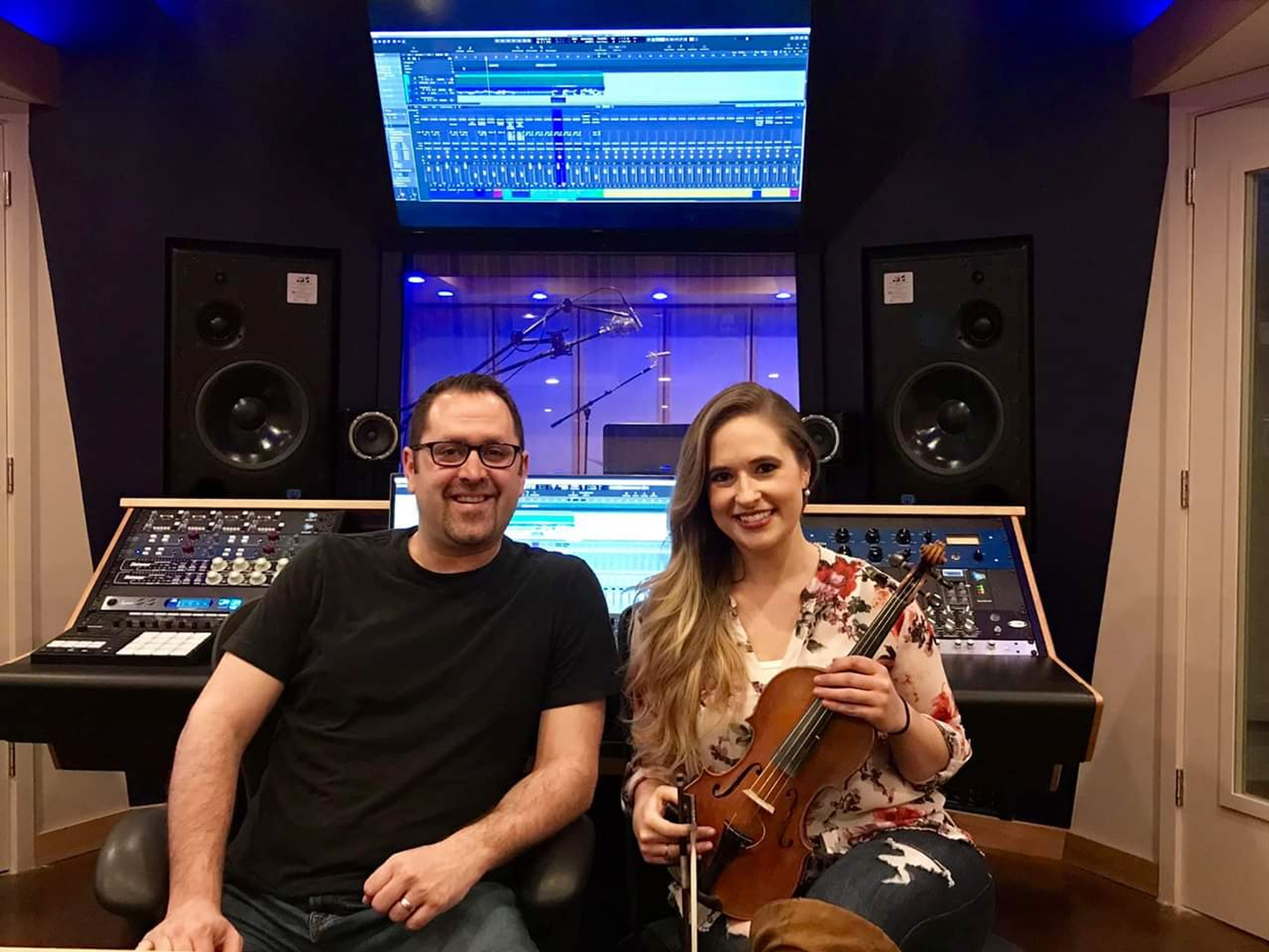 Dave Mallen with Tiffany Shanta - Music Studio Annandale by Innovation Station Music