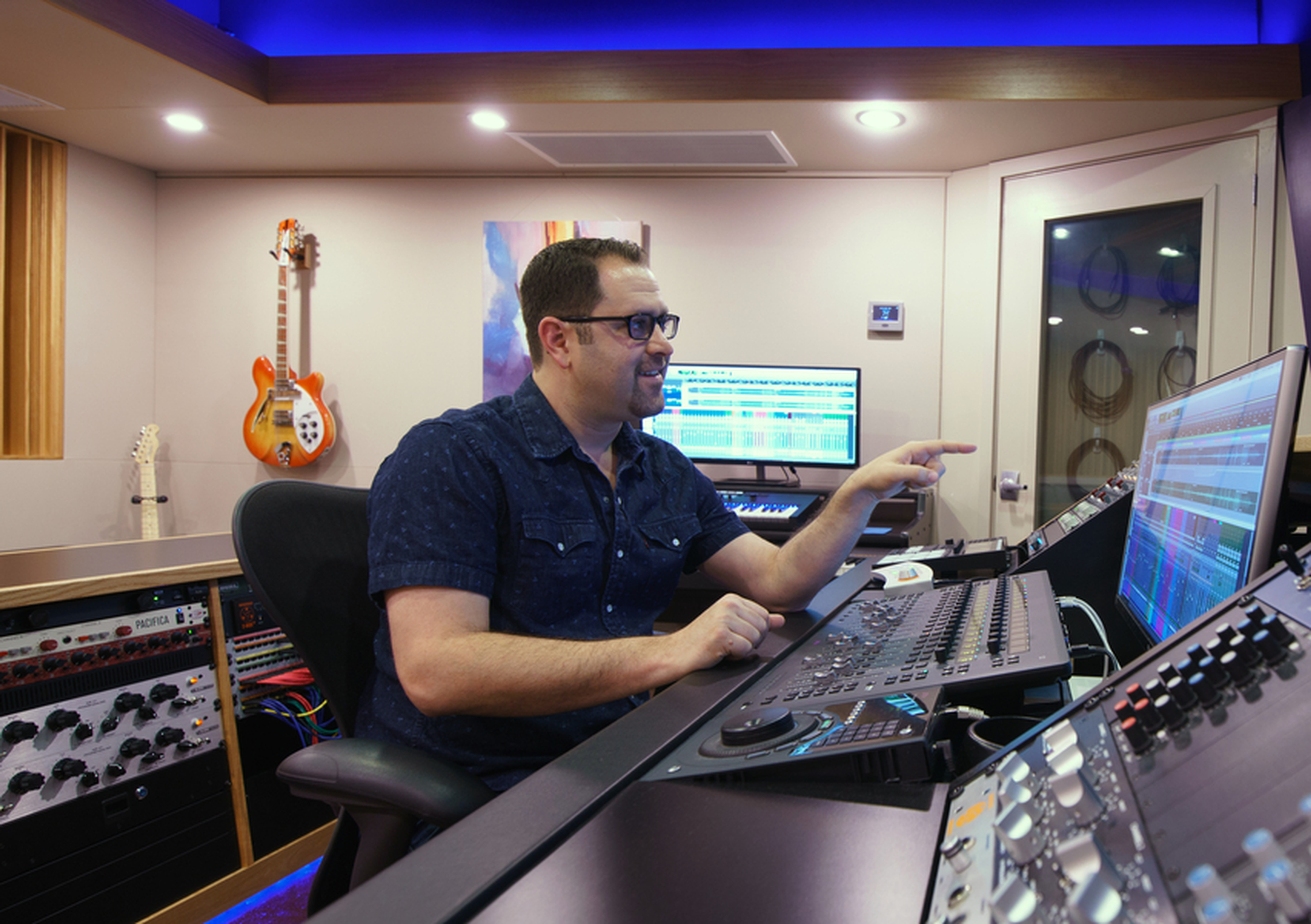 Dave Mallen Producing in Control Room A - Music Recording Studio DC by Innovation Station Music