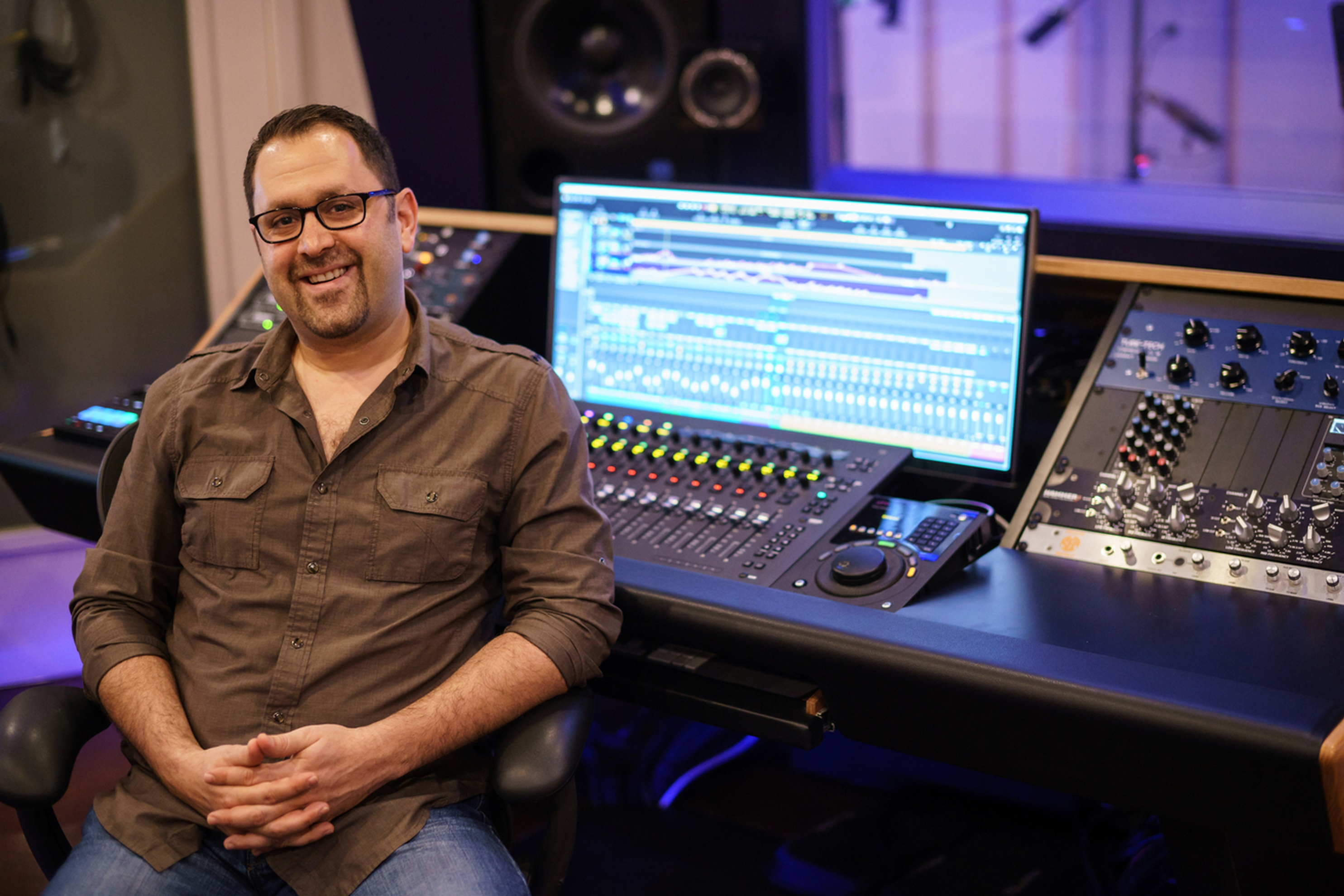 Dave Mallen Sitting At Desk - Music Recording Studio VA by Innovation Station Music