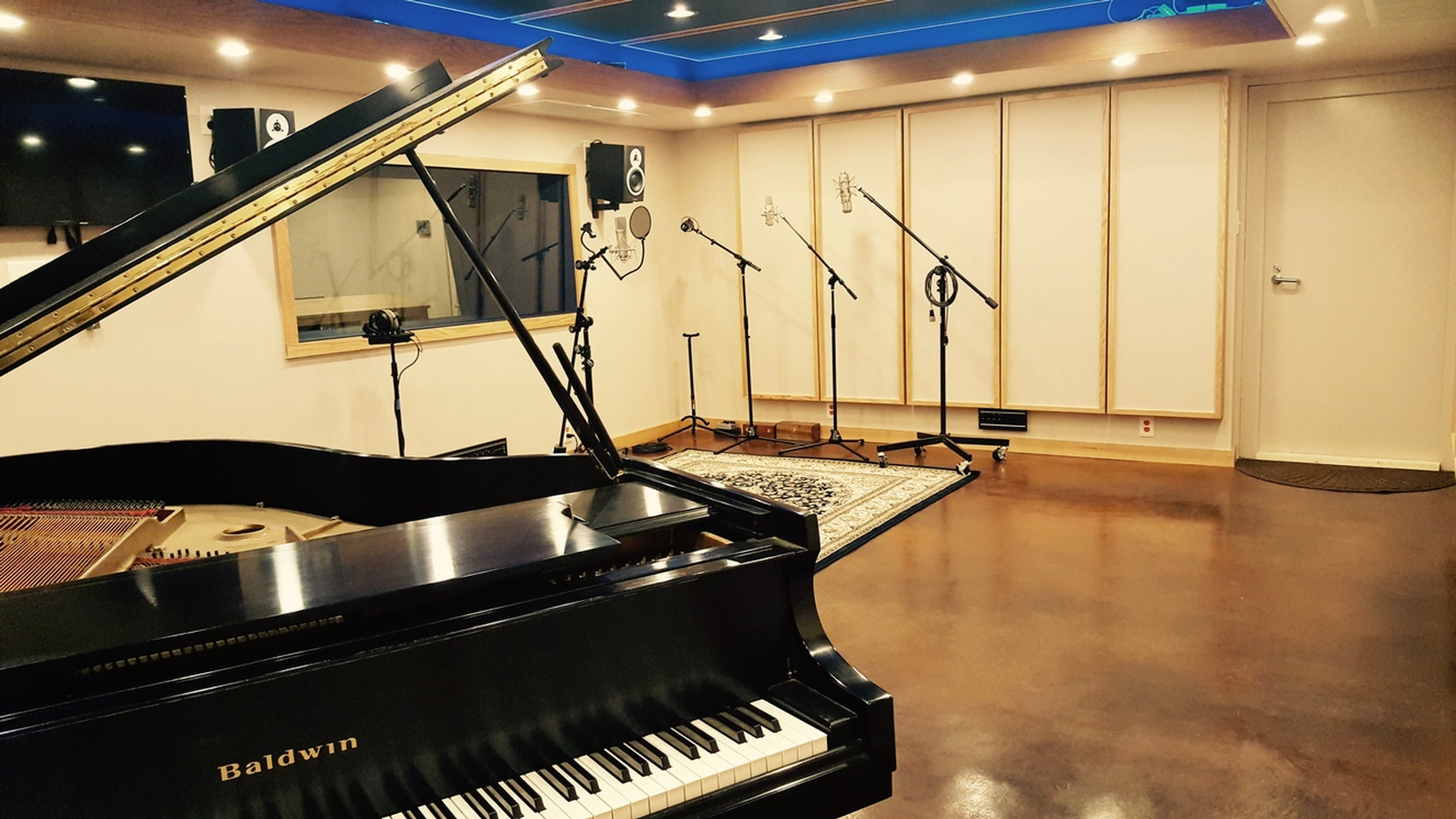 Piano View of Tracking Room - Music Production Company Annandale by Innovation Station Music