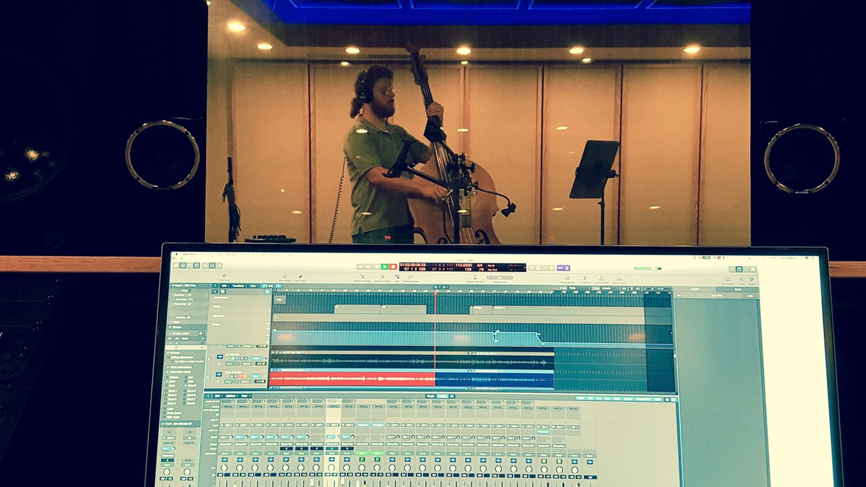 Niels Jonker on Bass - Music Recording Studio VA by Innovation Station Music