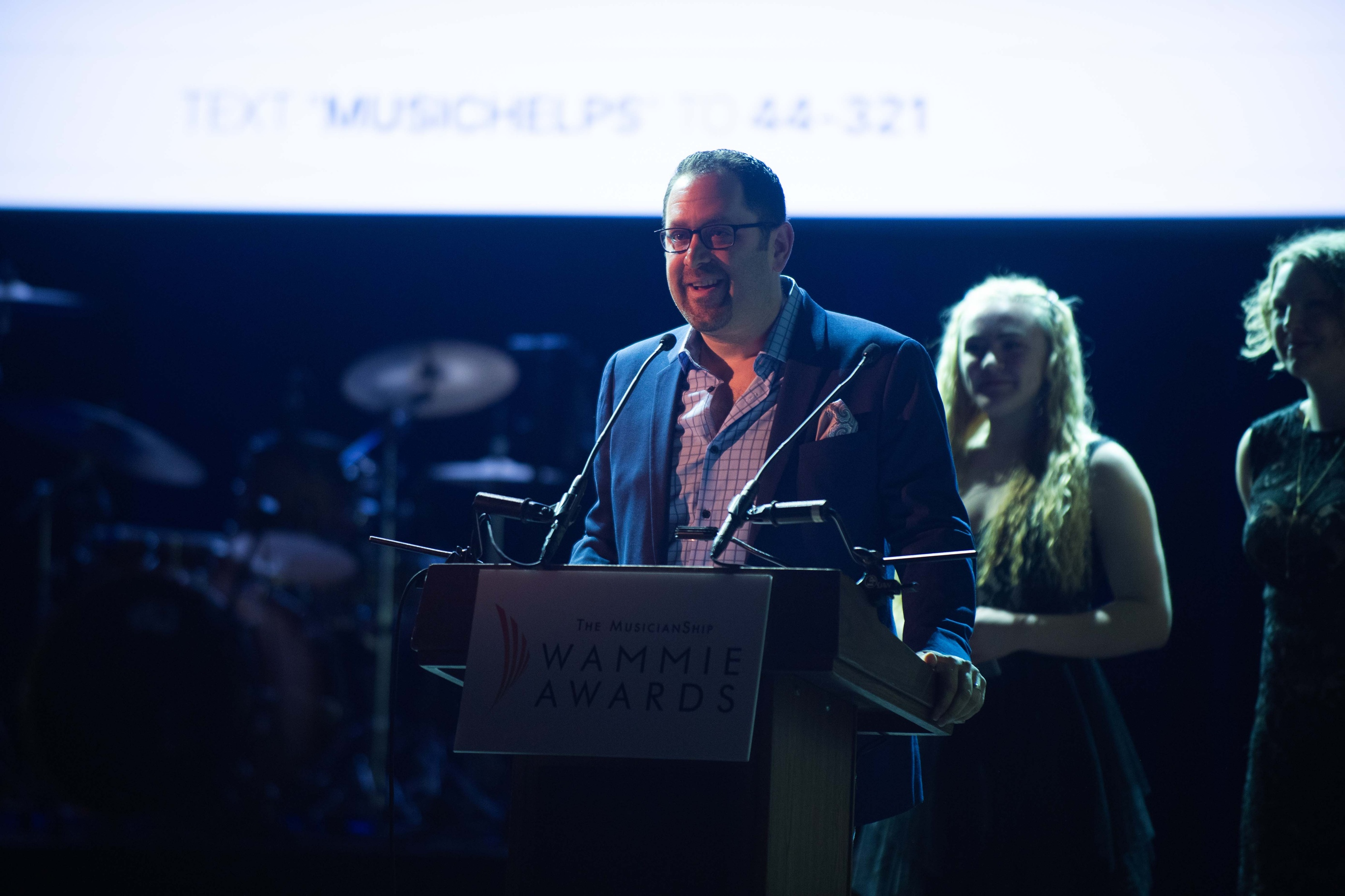 Dave Mallen Accepting WAMMIE Award - Audio Engineering Annandale by Innovation Station Music