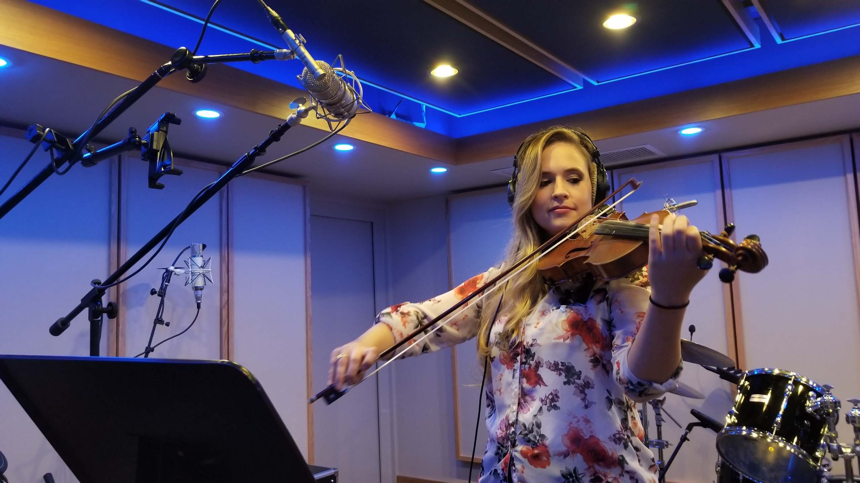 Tiffany Playing Violin - Music Production Company Annandale - Innovation Station Music