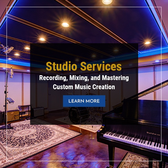 Studio Services - Recording, Mixing, and Mastering Custom Music Creation