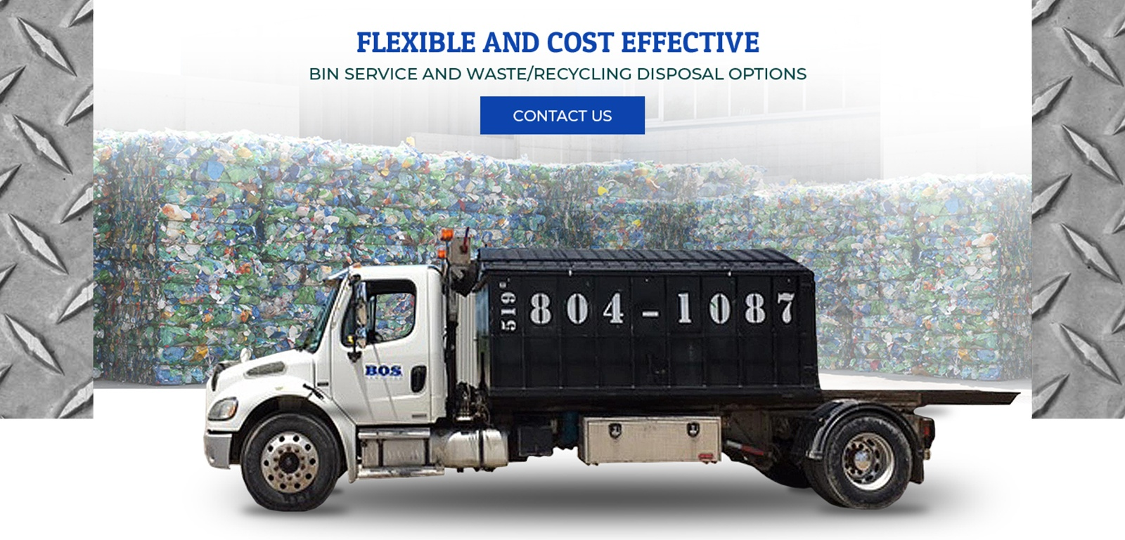 Flexible and Cost Effective - Bin Service and Waste, Recycling Disposal Options by BOS Services Inc.