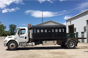 Garbage Disposal Truck by BOS Services Inc. - Commercial Waste Management Kitchener ON