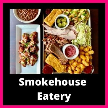 Smokehouse eatery button