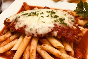 Chicken Parmigiana and Pasta