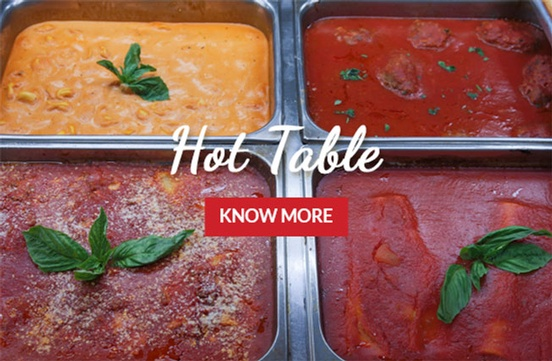 Hot Table Varieties at The Brick Oven Bakery - Burlington Authentic Italian Food