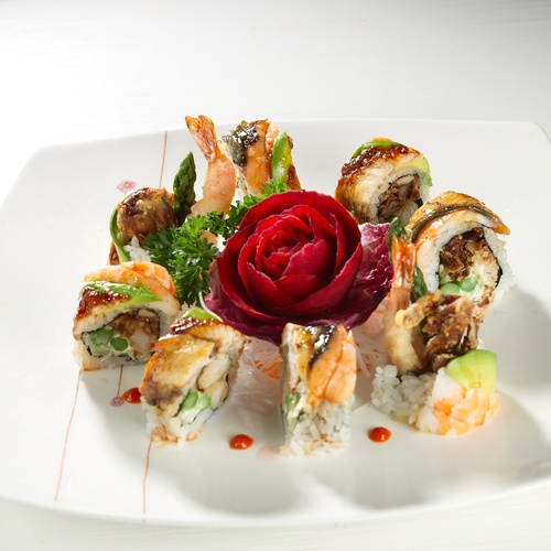 Torched Prawns Sushi - Seafood Teriyaki Vaughan by Taiga Japan House