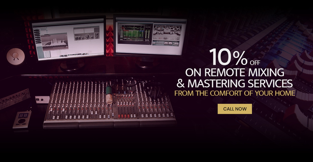 Remote mixing and mastering services from the comfort of your home