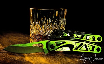 Knife and a Glass - Product Photography Brampton by LogicWorx Studios Inc.