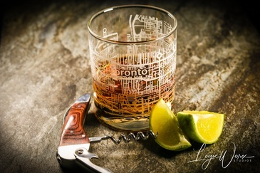 Swiss Knife, a Glass and Pieces of Lime - Product Photography Toronto by Logicworx Studios Inc.