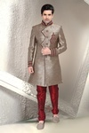 Attractive Look Brown Color Indo Western Sherwani