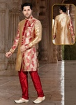 Brown Color Handsome look Indo Western Sherwani