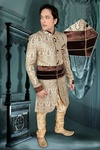 Silver Color Awaresome Look Indo Western Sherwani
