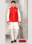 Royal Look White Color Indo Western Sherwani