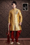 Astonishing Orange Color Indo Western Sherwani