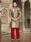 Unique Brown Color Indo Western Sherwani