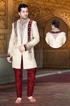 Beautiful Cream Color Indo Western Sherwani